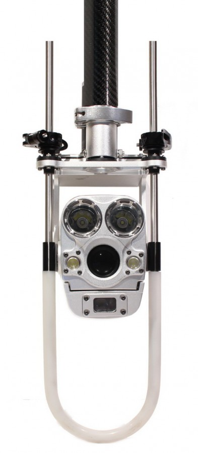 Caméra zoom inspection canalisation perche