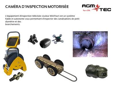 Camera motorisée pour inspection assainiisement