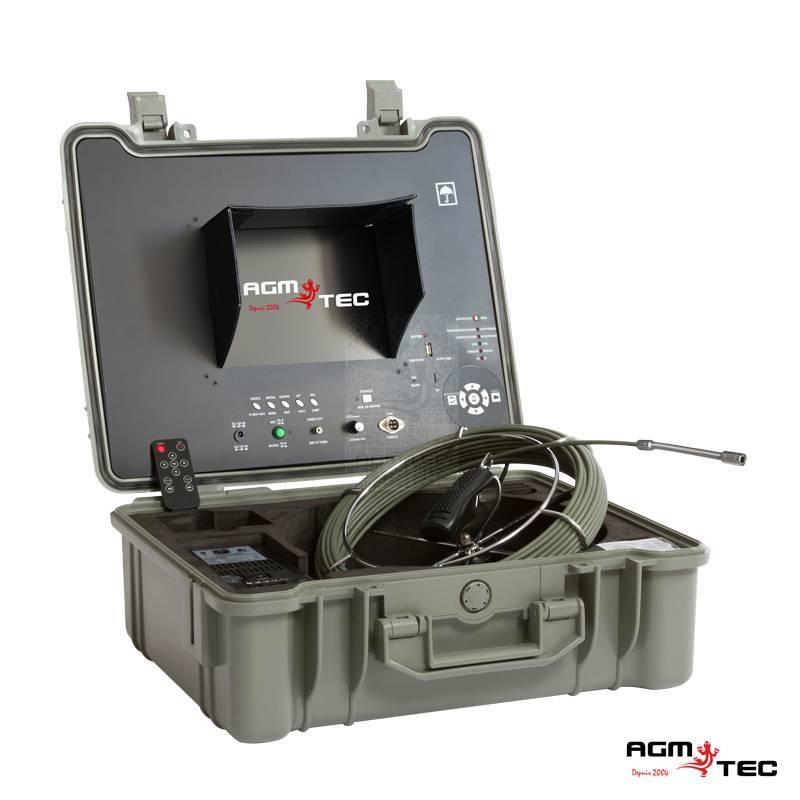 Système portable a pousser d'inspection canalisations