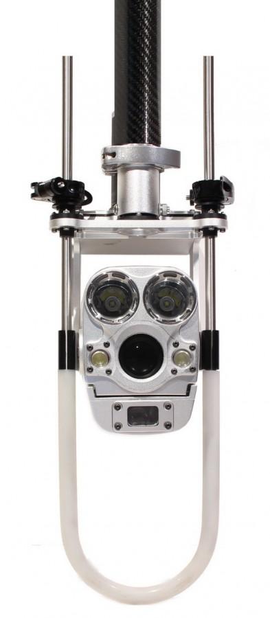 caméra d'inspection de canalisations sur perche télescopique