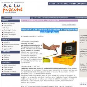 Publication sur Actu Piscine.fr