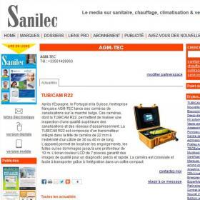 Publication sur Sanilec.be de la Tubicam