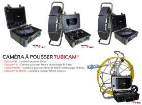 Caméra poussée avec jonc en fibre de verre pour l'inspection des canalisations et assainissements