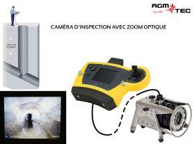 Caméra d'egouts avec zoom sur perche permettent une inspection des réseaux d'assainissement ou des canalisations depuis le haut du regard